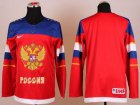 Cheap 2014 Olympic Team Russia Blank Red Stitched NHL Jersey