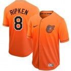 Cheap Nike Orioles #8 Cal Ripken Orange Fade Authentic Stitched MLB Jersey