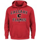Cheap Calgary Flames Majestic Heart & Soul Hoodie Red