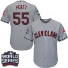 Cheap Indians #55 Roberto Perez Grey Road 2016 World Series Bound Stitched Youth MLB Jersey