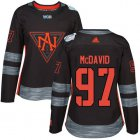 Cheap Team North America #97 Connor McDavid Black 2016 World Cup Women's Stitched NHL Jersey