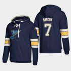 Cheap St. Louis Blues #7 Patrick Maroon Blue adidas Lace-Up Pullover Hoodie
