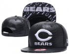 Cheap NFL Chicago Bears Team Logo Black Snapback Adjustable Hat G85