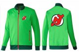 Cheap NHL New Jersey Devils Zip Jackets Green