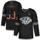 Cheap Nashville Predators #59 Roman Josi Adidas Men's Black USA Flag Limited NHL Jersey