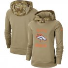 Cheap Women's Denver Broncos Nike Khaki 2019 Salute to Service Therma Pullover Hoodie