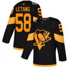 Cheap Adidas Penguins #58 Kris Letang Black Authentic 2019 Stadium Series Women's Stitched NHL Jersey