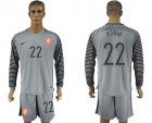 Cheap Holland #22 Vorm Grey Goalkeeper Long Sleeves Soccer Country Jersey
