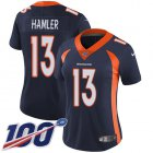 Cheap Nike Broncos #13 KJ Hamler Navy Blue Alternate Women's Stitched NFL 100th Season Vapor Untouchable Limited Jersey