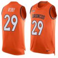 Cheap Nike Broncos #29 Bradley Roby Orange Team Color Men's Stitched NFL Limited Tank Top Jersey