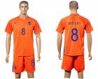Cheap Holland #8 Afellay Home Soccer Country Jersey