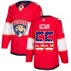 Cheap Adidas Panthers #55 Noel Acciari Red Home Authentic USA Flag Stitched NHL Jersey