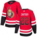 Cheap Adidas Senators #22 Nikita Zaitsev Red Home Authentic Drift Fashion Stitched NHL Jersey