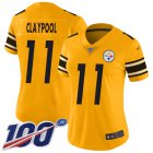 Cheap Nike Steelers #11 Chase Claypool Gold Women's Stitched NFL Limited Inverted Legend 100th Season Jersey