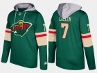 Cheap Wild #7 Matt Cullen Green Name And Number Hoodie