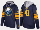 Cheap Sabres #41 Justin Falk Blue Name And Number Hoodie