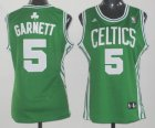 Cheap Boston Celtics #5 Kevin Garnett Green Womens Jersey