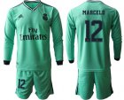 Cheap Real Madrid #12 Marcelo Third Long Sleeves Soccer Club Jersey