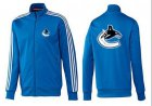 Cheap NHL Vancouver Canucks Zip Jackets Blue-2