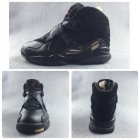Cheap Air Jordan 8 Retro Black Ovo Black/Blur Dark Gold-Varsity Red