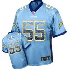 Cheap Nike Chargers #55 Junior Seau Electric Blue Alternate Men's Stitched NFL Elite Drift Fashion Jersey