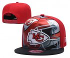 Cheap Chiefs Team Logo Red Black Adjustable Leather Hat TX
