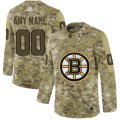 Cheap Men's Adidas Bruins Personalized Camo Authentic NHL Jersey