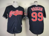 Cheap Indians #99 ricky vaughn Navy Blue Cool Base Stitched Baseball Jersey
