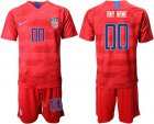 Cheap USA Personalized Away Soccer Country Jersey
