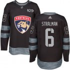Cheap Adidas Panthers #6 Anton Stralman Black 1917-2017 100th Anniversary Stitched NHL Jersey
