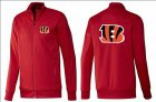 Cheap NFL Cincinnati Bengals Team Logo Jacket Red