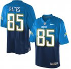 Cheap Nike Chargers #85 Antonio Gates Electric Blue/Navy Blue Men's Stitched NFL Elite Fadeaway Fashion Jersey