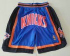 Cheap Men's New York Knicks 1996-97 Blue Just Don Shorts Swingman Shorts