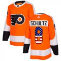 Cheap Adidas Flyers #8 Dave Schultz Orange Home Authentic USA Flag Stitched Youth NHL Jersey