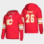 Cheap Calgary Flames #26 Michael Stone Red adidas Lace-Up Pullover Hoodie