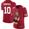 Cheap San Francisco 49ers #10 Jimmy Garoppolo Nike Team Hero 4 Vapor Limited NFL Jersey Red