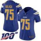 Cheap Nike Chargers #75 Bryan Bulaga Electric Blue Women's Stitched NFL Limited Rush 100th Season Jersey