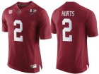 Cheap Men's Alabama Crimson Tide #2 Jalen Hurts Red 2017 Championship Game Patch Stitched CFP Nike Limited Jersey