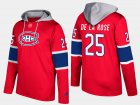 Cheap Canadiens #25 Jacob De La Rose Red Name And Number Hoodie