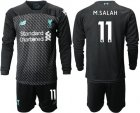 Cheap Liverpool #11 M.Salah Third Long Sleeves Soccer Club Jersey