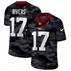 Cheap Indianapolis Colts #17 Philip Rivers Men's Nike 2020 Black CAMO Vapor Untouchable Limited Stitched NFL Jersey