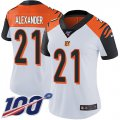 Cheap Nike Bengals #21 Mackensie Alexander White Women's Stitched NFL 100th Season Vapor Untouchable Limited Jersey