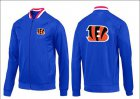 Cheap NFL Cincinnati Bengals Team Logo Jacket Blue_1