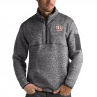 Cheap New York Giants Antigua Fortune Quarter-Zip Pullover Jacket Charcoal