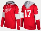 Cheap Red Wings #17 David Booth Red Name And Number Hoodie