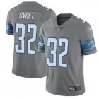 Cheap Nike Lions #32 D'Andre Swift Gray Men's Stitched NFL Limited Rush Jersey