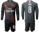 Cheap AC Milan #8 Suso Third Long Sleeves Soccer Club Jersey