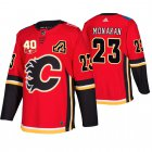 Cheap Adidas Calgary Flames #23 Sean Monahan 40th Anniversary Third 2019-20 NHL Jersey