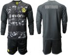 Cheap Dortmund Blank Away Long Sleeves Soccer Club Jersey