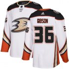 Cheap Adidas Ducks #36 John Gibson White Road Authentic Youth Stitched NHL Jersey